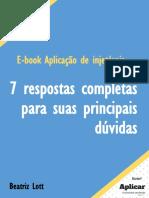 eBook - Dúvidas Sobre Aplicação de Injetaveis