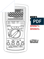 Brymen BM 869s - User Manual