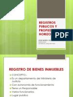 Registros Publicos y Propiedad Horizontal
