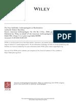 Borofsky 2002 - The Four Subfields. Anthropologists as Mythmakers