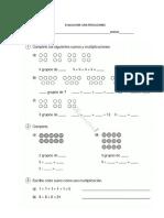 Evaluación concepto multiplicaciones