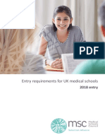 Msc Entry Requirements for Uk Medical Schools