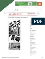 Colisões Urbanas - Continuidades e Descontinuidades