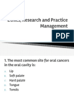 Ethics, Research and Practice Management Board Review 18 With Answers