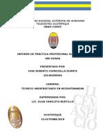 Universidad Nacional Autònoma de Honduras Informe