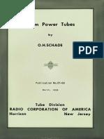 Beam Power Tubes OH Schade 1938