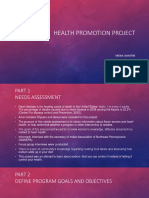 health promotion project