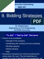 9.Bidding Strategies