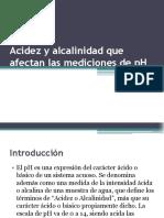 Acidez y Alcalinidad Que Afectan Las Mediciones De
