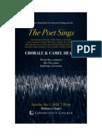 The Poet Sings Program
