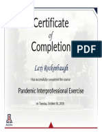 pandemic interprofessional event  certificate pandemic interprofessional exercise 2018 rockenbaugh