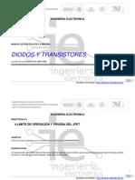 Manual de Practicas de Diodos y Transistores UNIDAD III