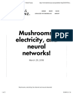 Mushrooms, Electricity, And Neural Networks! — Herbal Visionz.