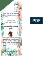 Tarjetas de Invitacion Promocion