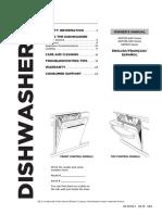 GE Dishwasher User Manual GDT58CSGF2WW