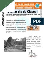 Ficha de Primer Día de Clases Para Segundo de Primaria