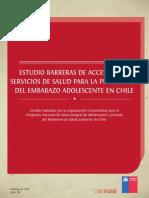 2011 Estudio Barreras Acceso a Salud Adolescentes Culturasalud