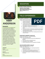 abby anderson resume