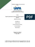 Tarea II de Tecnicas de Entrevista Clinica.