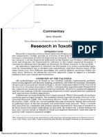 Research in Taxation