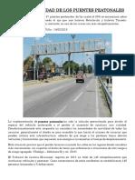 La Funcionalidad de Los Puentes Peatonales