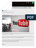 Youtube  Censura Alternativas Para Publicar Videos Online