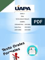 Texto Orales Formales