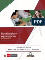 1. Tutorial de Paralelas , Perpendiculares y Secantes Propuesta Didactica