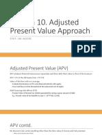 Session 10. Adjusted Present Value