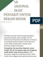 Standar Internasional Klasifikasi Penyakit Untuk Rekam Medik