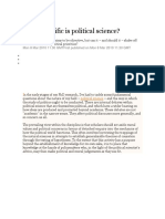 How Scientifical is Political Science - The Guardian