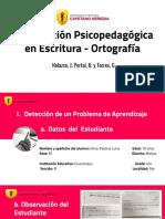 Examen Final Intervención Psicopedagógica en Escritura (1)