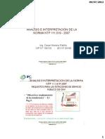 Analisis e Interpretacion de La Ntp 111.019-2007