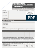 Supplementary App Form 2011 Admissions