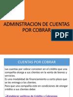 Administración de Cuentas Por Cobrar