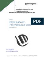 Contenido Del Diplomado de Programación Web