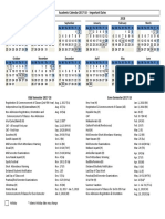 Academic Calendar 2017 18