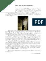Jean-Paul Kervadec, « Gavrinis, Apollinaire et Mirbeau »