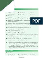 Quadratic Equation (Review)