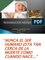 Reanimacion Neonatal Clase Dr. Bambaren 2018