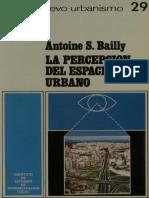 La Percepcion Del Espacio Urbano. Antoin