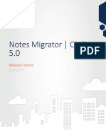 Notes Migrator 5.0 Release Notes