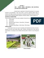 Farm power and mechanization