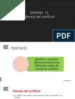 PPT SEMANA 11 - Manejo de Conflicto - Taller de Liderazgo