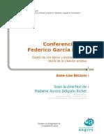 Federico Lorca conferencias inéditas
