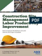 Construction Site Management and Labor Productivity Improvement