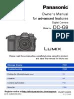 LUMIX G9 Mirrorless Camera Kit, 20.3 Megapixels plus 80 Megapixel High-Resolution Mode, 5-Axis Dual I.S2 - DC-G9LK