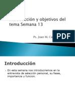 Introduccion y Objetivos Sesion 13