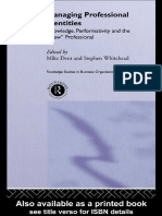 Dent & Whitehead Managing Professional Identities Knowledge Performativity and the New Professional Ro