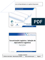 Vanzolini Terceirização Logistica - Seleção de Operadores Logisticos 2 Slides